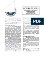 2013 House Notes - Week 5