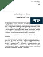105730618 Cesar Gonzalez La Literatura Como Sistema