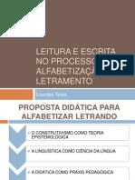 LEITURA E ESCRITA NO PROCESSO DE ALFABETIZAÇÃO E sesc