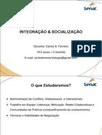 Integração e Socialização - Adm de Conflitos - atz