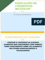 PRACTICA IDENTIFICACIÓN DE NUTRIMENTOS ORGÁNICOS
