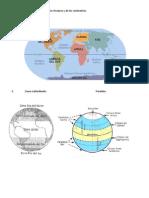 Plamisferio Con El Nombre de Los Oceanos y de Los Continentes