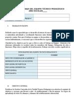 PLAN  DE  TRABAJO DEL EQUIPO TECNICO PEDAGOGICO.doc