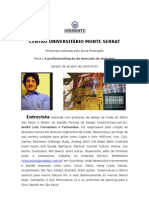 Entrevista Prof André Fernandes
