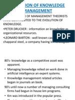 Evolution of Knowledge Management