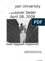 2009 Haggadah Supplement