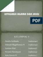 Integrasi Agama Dan Sains