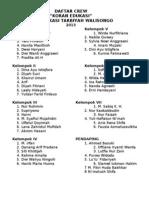 Daftar Crew Koran Edu 2013