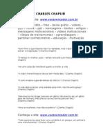 FRASES de CHARLES CHAPLIN - Www.vocevencedor.com .Br - Mensagem Motivacional
