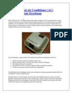 Membuat Mini Air Conditioner
