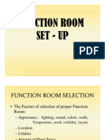 Function Room Setup Training