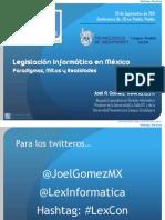 Legislación Informática - ITESM Puebla