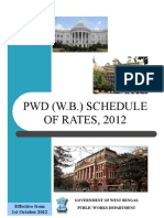 PWD (W.B.) SCHEDULE OF RATES, 2012