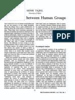 Tajfel 1966 Co-Operation Between Human Groups