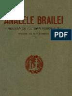 Analele Brăilei  Revistă de cultură regională, 04, nr. 01, ianuarie-martie 1932