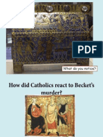 How Did Catholics React to Becket's Murder