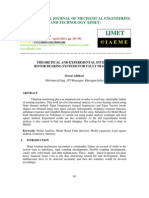 Theoretical and Experimental Study of Rotor Bearing Systems