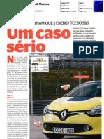 """NOVO RENAULT CLIO TCe 90 NA """"CARROS & MOTORES"""""""
