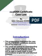Nebosh Cert Case Law