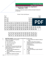 DLRC Chemistry 16 Comprehensive Samplex for Long Exam 2