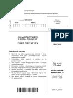 Matura 2013 - język polsk i- poziom podstawowy- arkusz maturalny (www.studiowac.pl)