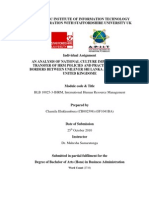 An analysis of national Culture impacts on the transfer of HRM policies and practices across borders between Unilever Sri Lanka and Unilever United Kingdome