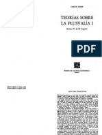 126631086 Marx Karl Teorias Sobre La Plusvalia I