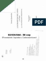 02036044 JAURETCHE- Los Profetas Del Odio y La Yapa -Pp. 27-93 y 157-201