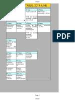 IGCSE Time Table Modified