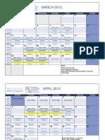 Schedule 2012 2013 Management