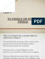 To fiddle or not to fiddle case presentation