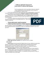 Utilizarea aplicatiei GenerareCP