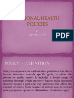 National Health Policies 2 Nd Year