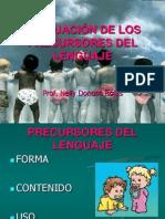 EVALUACIÓN DE LOS PRECURSORES DEL LENGUAJE