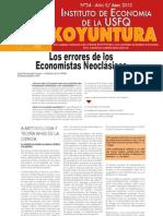 Los Errores de Los Economistas Neoclasicos - Koyuntura Abril 2013