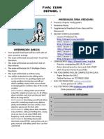 CMHS Sp 1 Final Exam Review Info