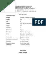 Plan de Curso Desarrollo y Patologia Del Lenguaje
