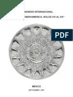 I Congreso Internacional La Plata En Iberoamerica Siglos XVI a XIX