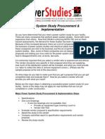 Power System Study - Procurement, Evaluation, Implementation