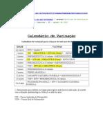 calendário vacinal