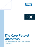 Nhs Care Record Guarantee Document