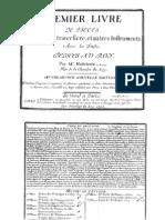 Pièces pour la flûte traversiere, livre I, Op.2 (Hotteterre, Jacques)