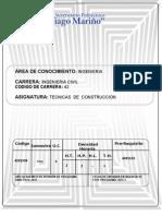 TÉCNICAS DE CONSTRUCCIÓN