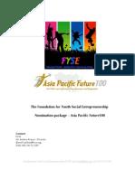 Asia Pacific Future100 (2009) Nomination Info