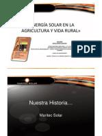 Seminario Energia Solar en La Agricultura y Vida Rural