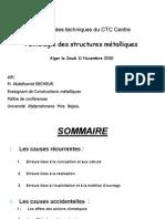 Pathologie  Pathologie des structures  des structures métalliques métalliques