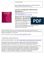 Restaurant Servicescape, Service Encounter