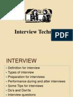 interviw technique