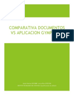 Comparativa documento vs Aplicación