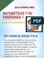 MATEMÁTICAS Y SU ENSEÑANZA 1